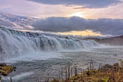 Faxi Waterfal Icelandic scenery stock photo