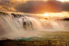 Faxi Waterfal isländskalandskap royaltyfri fotografi