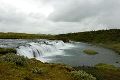 Faxi waterfall, Iceland. Royalty Free Stock Images