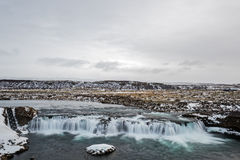 Faxi waterfall, Iceland Royalty Free Stock Images