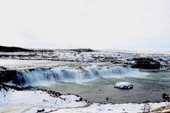 Faxifoss vattenfall, guld- cirkel, Island fotografering för bildbyråer