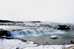 Faxifoss Waterfall, Golden Circle, Iceland stock image