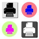 Faxprinter Vlak vectorpictogram stock illustratie