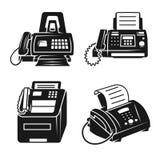 Faxsymbolsuppsättning, enkel stil royaltyfri illustrationer