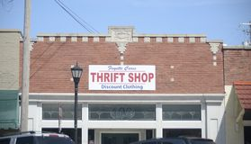 Fayette Cares Thrift Shop, Somerville, TN stock images