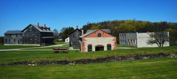 Fayette historisches Townsite stockbilder