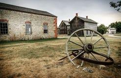 Fayette Townsite storico fotografie stock libere da diritti