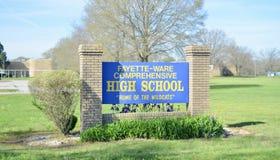 Fayette-Ware omfattande högstadium, Somerville, TN fotografering för bildbyråer
