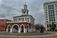 Исторический дом рынка в Fayetteville стоковое изображение rf