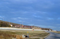 Fayetteville Arkansas, nordvästlig Arkansas nybyggnad Royaltyfri Fotografi