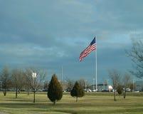 Fayetteville Arkansas, nordvästlig Arkansas stor amerikanska flaggan Arkivbild