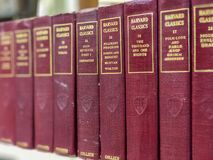FAYETTEVILLE, NC - CIRCA April 2019 : Harvard Classics Series of Books by Collier stock photos
