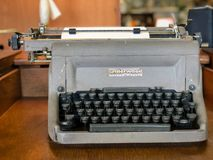 FAYETTEVILLE, NC - CIRCA April 2019 : Underwood Golden Touch Typewriter Manual royalty free stock photo