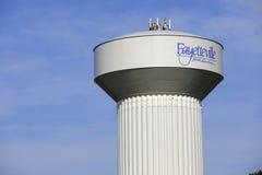Fayetteville-Wasserturm Lizenzfreie Stockfotos