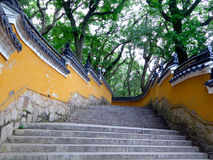 Fayu-Tempeltreppe in Putuo-Berg Lizenzfreie Stockfotos