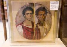 Fayumportret - Egyptisch museum royalty-vrije stock afbeeldingen