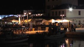 fazana в вечере, istrie, Хорватия 221441 акции видеоматериалы