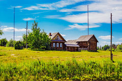 Fazenda do russo na vila foto de stock royalty free