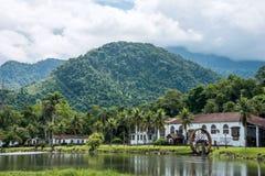 Fazenda velho da exploração agrícola do campo, Brasil fotografia de stock royalty free