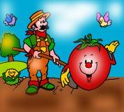 Fazendeiro no hoe do país Imagem de Stock