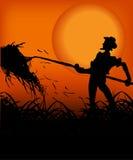 Fazendeiro no por do sol Fotografia de Stock Royalty Free