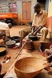 Fazendeiros do café em Uganda Fotografia de Stock