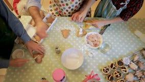 Fazendo biscoitos do Natal video estoque