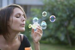 Fazendo bolhas Imagens de Stock Royalty Free