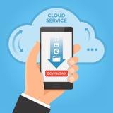 Fazendo download do conceito da nuvem Imagens de Stock Royalty Free