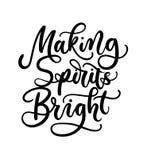 Fazendo a espírito o cartão de rotulação brilhante C inspirado tirado mão ilustração do vetor
