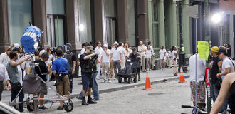 Fazendo filmes em NYC Imagens de Stock