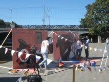 Fazendo grafittis Foto de Stock Royalty Free