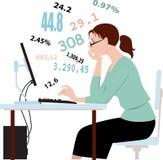 Fazendo impostos, números de trituração Imagens de Stock