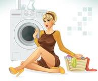 Fazendo a lavanderia Imagens de Stock