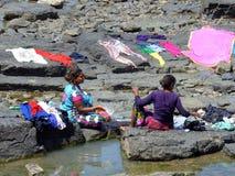 Fazendo a lavanderia na Índia de Bandra Mumbai Fotografia de Stock Royalty Free