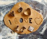 Fazendo letras da cookie Foto de Stock