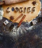 Fazendo letras da cookie Foto de Stock Royalty Free