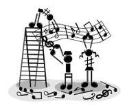 Fazendo a música Imagens de Stock