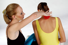 Fazendo massagens exercícios Fotos de Stock Royalty Free