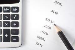 Fazendo a matemática fotografia de stock royalty free