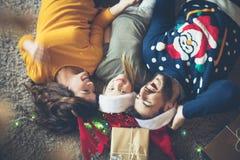 Fazendo memórias no tempo do Natal foto de stock royalty free