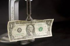 Fazendo o último do dinheiro Foto de Stock Royalty Free