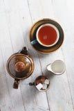 Fazendo o chá no potenciômetro Foto de Stock Royalty Free