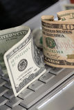 Fazendo o dinheiro Fotos de Stock Royalty Free