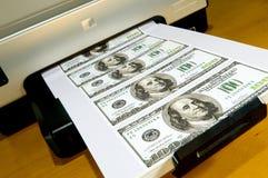 Fazendo o dinheiro em casa Fotografia de Stock