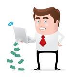 Fazendo o dinheiro em linha Imagem de Stock Royalty Free