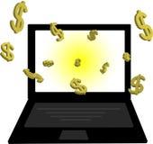 Fazendo o dinheiro em linha Fotografia de Stock