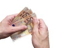Fazendo o euro- conceito do negócio Foto de Stock Royalty Free