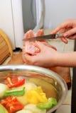 Fazendo o jantar Fotografia de Stock Royalty Free