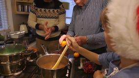 Fazendo o jantar de Natal filme
